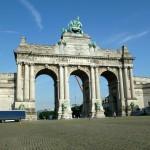 Cinquantenaire triumphal arch.
