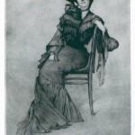 Ignacy Łopieński, Portrait of a Lady Sitting on a Chair, 1905