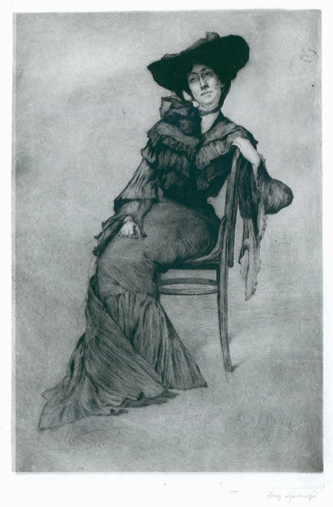 Ignacy Łopieński, Portrait of a Lady Sitting on a Chair, 1905
