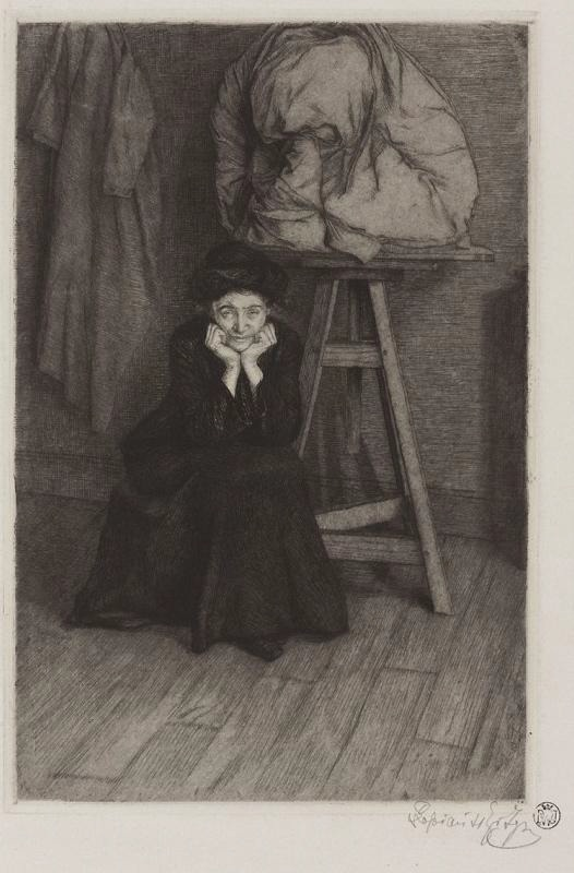 Ignacy Łopieński, Portrait of Iza Daniłowicz-Strzelbicka, 1906/07