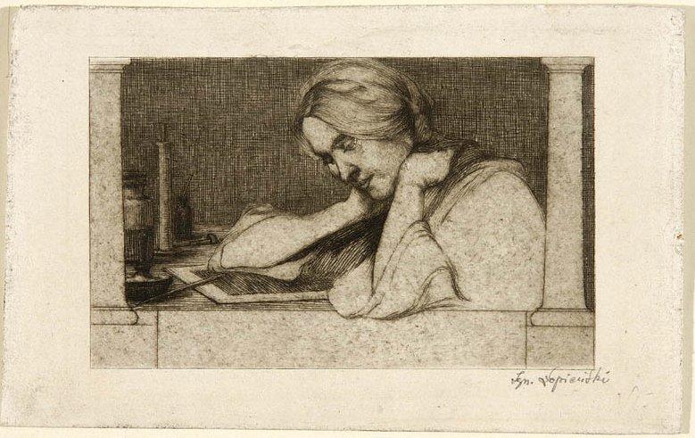 Ignacy Łopieński, The Etcher, c1914