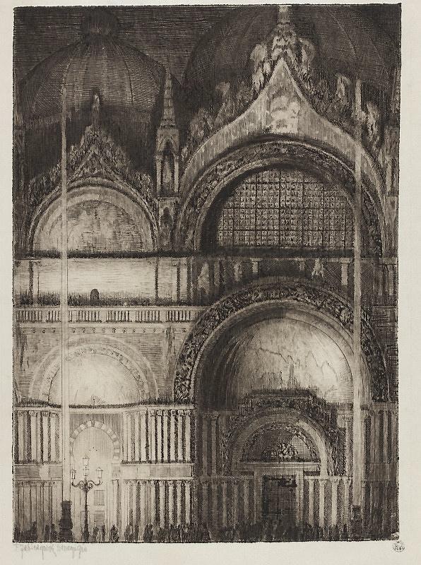 Feliks Jabłczyński, The Doors of San Marco in Venice, 1912
