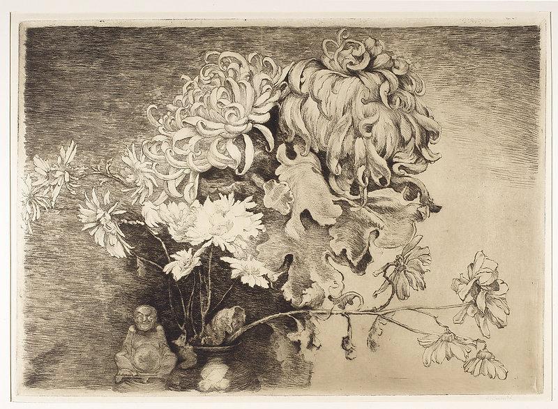 Ignacy Łopieński, Chrisanthemums, 1931