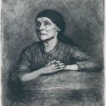 Ignacy Łopieński, Praying Bavarian Woman, 1890