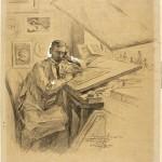Antoni Kamieński, Portrait of Ignacy Łopieński in the Studio, 1900