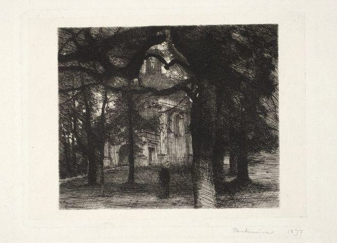 Józef Pankiewicz, Chapel in the Park, 1897