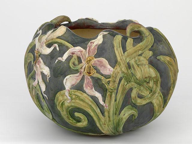 Cache-pot OrchidéesPhilippe Wolfers,  Emile Muller & Cie, ca. 1897–1904
