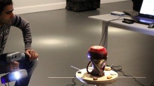 3D scanning of an upturned vase